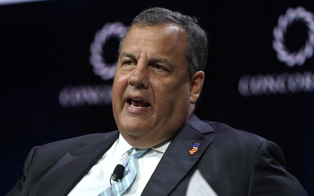 Chris Christie speaks at the Concordia Annual Summit in New York City, on September 23, 2019. (Riccardo Savi/Getty Images for Concordia Summit via JTA)
