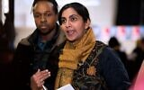Seattle City Councilmember Kshama Sawant, pictured here in January 2020, sponsored legislation that would have barred Seattle police officers from getting training from Israeli forces. (Jason Redmond/AFP via Getty/via JTA)