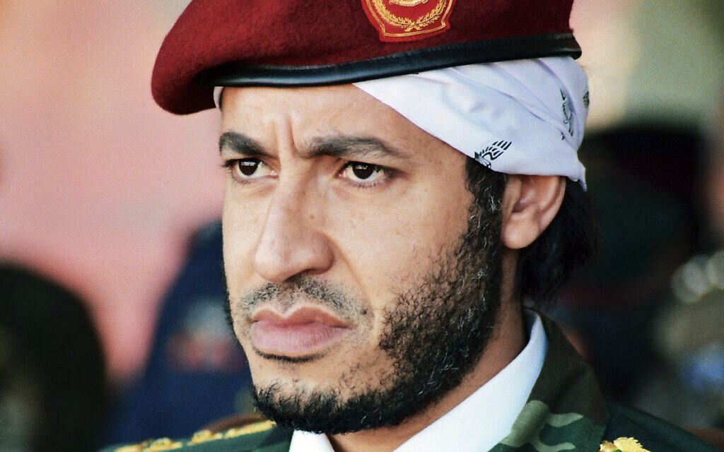 Gadhafi's son freed after 7-plus years in Lybian prison