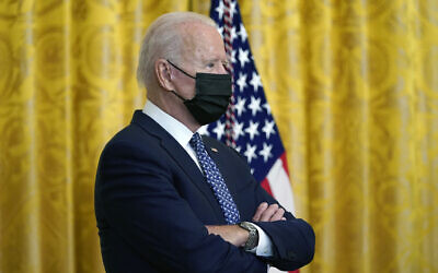 US President Joe Biden during an event in the East Room of the White House, on September 8, 2021, in Washington, DC. (AP Photo/Evan Vucci)