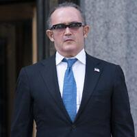 Igor Fruman leaves in Federal court in Manhattan, Friday, Sept. 10, 2021. (AP Photo/Mary Altaffer)