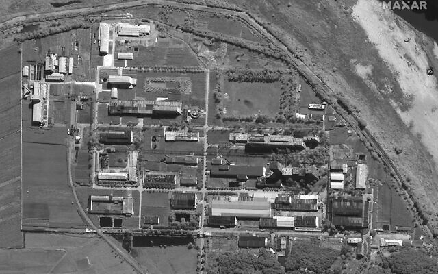 This Sept. 1, 2021, satellite image provided by Maxar Technologies shows an overview of North Korea's Yongbyon nuclear complex. (Satellite image ©2021 Maxar Technologies via AP)