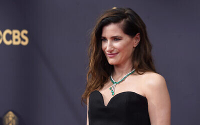 Kathryn Hahn arrives at the 73rd Primetime Emmy Awards on Sunday, Sept. 19, 2021 in Los Angeles. (AP Photo/Chris Pizzello)