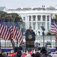 In this Jan. 6, 2021 file photo, President Donald Trump speaks at a rally in Washington. (AP Photo/Jacquelyn Martin, File)