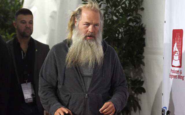 Music producer Rick Rubin arrives at the ninth annual Grammy Week Event honoring him at The Village Recording Studios on February 11, 2016, in Los Angeles. (Photo by Chris Pizzello/ Invision/AP)