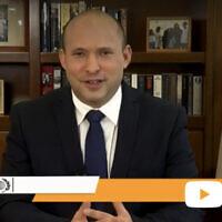 Prime Minister Naftali Bennett addresses the 42nd annual ICEJ Feast of Tabernacles (screenshot)