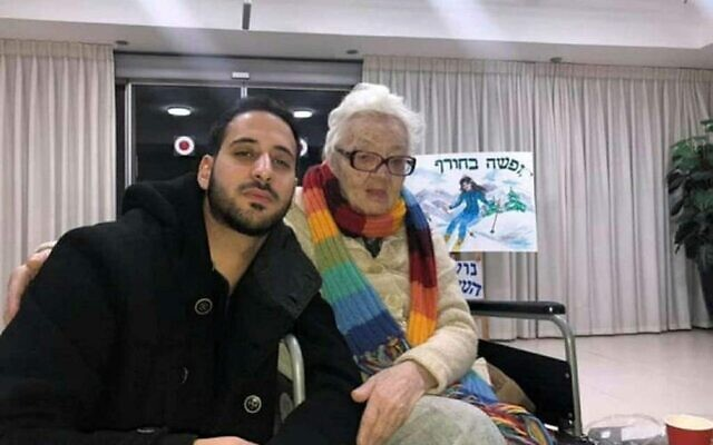 An undated photo of Chaya Freiman with her grandson, Elian Fitusi (Facebook)