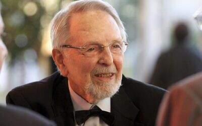 Philanthropist Dan David, for whom the Dan David Prize is named, and which now is considered the largest history prize in the world (Courtesy Dan David Foundation)