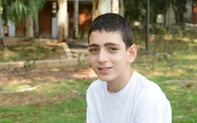 Barak Khoury, 12, was killed when riding his bicycle and hit by a car on Yom Kippur, September 15, 2021 (Courtesy)