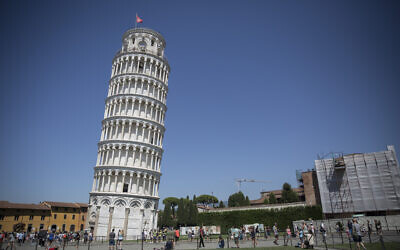 The leaning Tower of Pisa, in Tuscany, central Italy, on August 3, 2015. (Hadas Parush/Flash90)