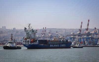 View of the Haifa Bay on April 24, 2018.  (Yossi Zamir/Flash90)