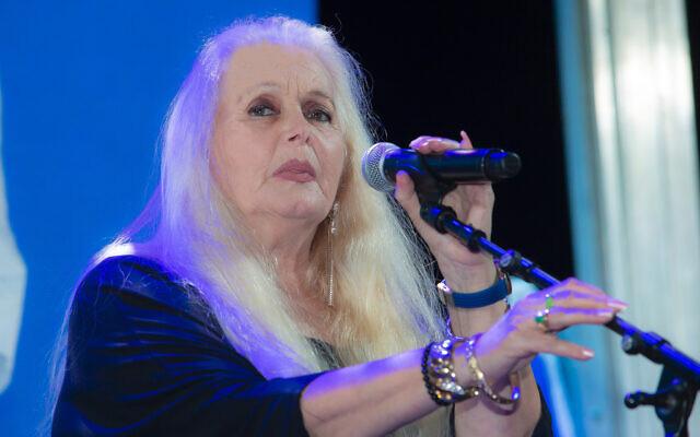 Israeli singer Miri Aloni, February 11, 2019. (Moshe Shai/FLASH90)