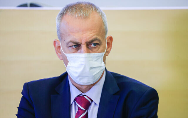 Health Minister Director-General Nachman Ash attends a press conference in Jerusalem on August 29, 2021. (Olivier Fitoussi/Flash90)