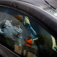 The scene where a young boy was forgotten in his father's car, in Sdot Negev Regional Council, southern Israel, on August 31, 2021. The baby died of heat prostration (Flash90)