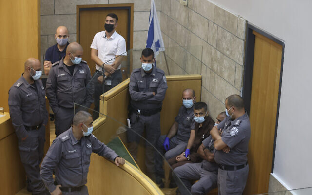 Mohammed al-Arida arrives for a court hearing at the District Court in Nazareth, on September 11, 2021. (David Cohen/ Flash90)