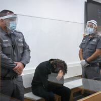 Barak Ben-Ami at a court hearing at Lod District Court on September 12, 2021. (Flash90)