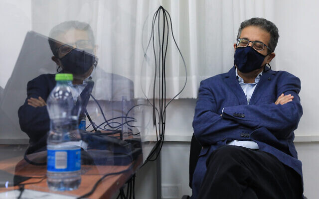 Former Walla news CEO Ilan Yeshua at the Jerusalem District Court on September 14, 2021. (Olivier Fitoussi/Flash90)