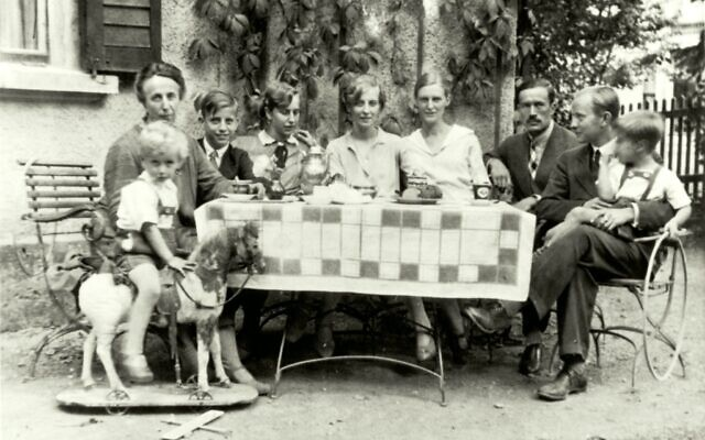 Mildred Harnack (fourth from right) with the Harnack family in Jena, Germany, 1929. (Courtesy of Gedenkstätte Deutscher Widerstand)
