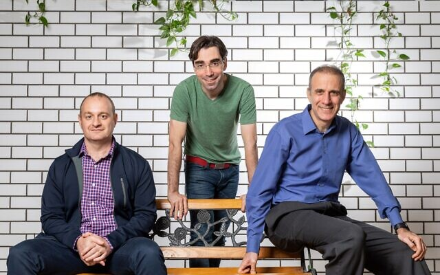 Guardicore founders from right: Dror Sal'ee, Pavel Gurvich and Ariel Zeitlin. (Courtesy)