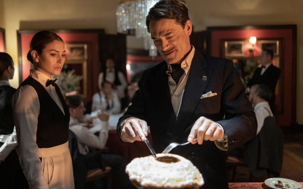 (L to R) Blanca Suárez as 'Isabel' and Stefan Weinert as 'Otto Bachmann' in the Netflix limited series 'Jaguar.' (Manuel Fernandez-Valdes/Netflix)