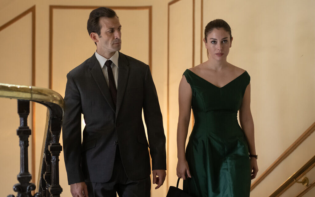 Iván Marcos as 'Lucena' and Blanca Suárez as 'Isabel' in Netflix limited series 'Jaguar.' (Manuel Fernandez-Valdes/Netflix)