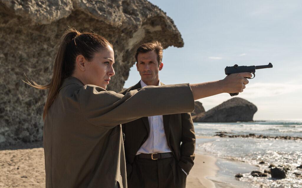 Blanca Suárez as 'Isabel' and Iván Marcos as 'Lucena' in Netflix limited series 'Jaguar.' (Manuel Fernandez-Valdes/Netflix)