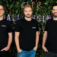 Melio founders from left: COO Ziv Paz CEO Matan Bar and CTO Ilan Atias. Courtesy
