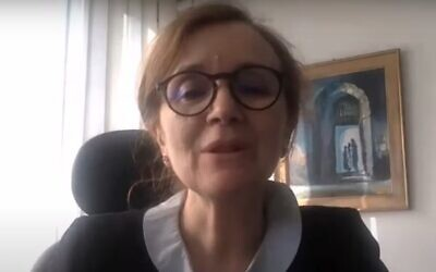 Screen capture from a June 2020 video of Najla Bouden who was selected to become prime minister of Tunisia, September 29, 2021. (YouTube)