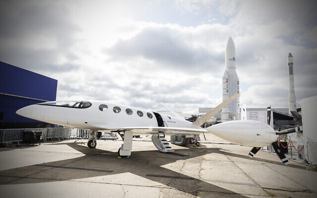 The all-electric Alice aircraft from Eviation revealed at the Paris Air Show in 2019. (Eviation Aircraft)
