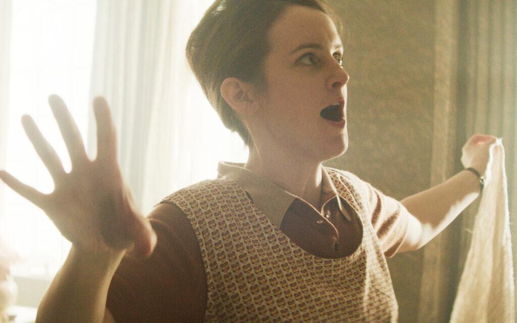 Sophie McShera as housekeeper 'Lynn' in short film 'Ganef' by Mark Rosenblatt (Alana Mejia Gonzalez)