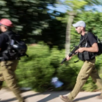 Illustrative: A local town's volunteer security squad simulates an attack. (Maor Kinsbursky/Flash90)