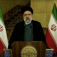Iranian President Ebrahim Raisi speaks in recorded video message to the UN General Assembly, on September 21, 2021. (Screenshot/YouTube)