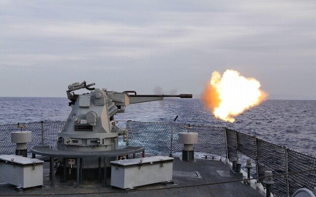 The Typhoon is a stabilized, remotely-controlled weapon system for naval ships developed by Rafael. (Courtesy)