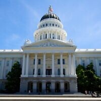 The California State Capitol building in Sacramento. (Mathieu Thouvenin/Flickr Commons via JTA)