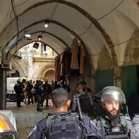 Police respond to an attempted stabbing attack in Jerusalem's Old City on September 10, 2021. (Magen David Adom)