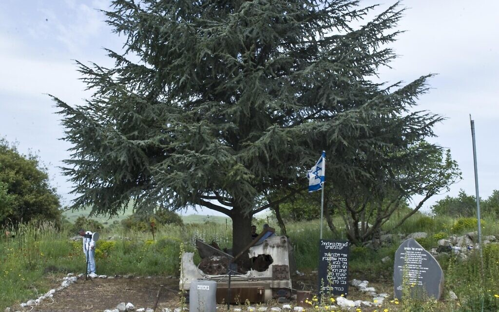 The Andarta of the Fig and the Cedar in the Golan Heights. (Courtesy of the Peled family)