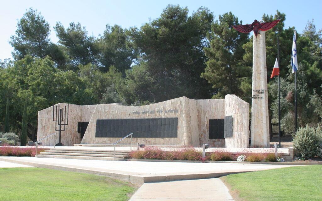The IDF paratrooper memorial near the central city of Gadera. (Shmuel Bar-Am)