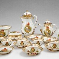 A rare Meissen armorial tea and coffee service made for the Morosini family, dated 1731. (Sotheby's)