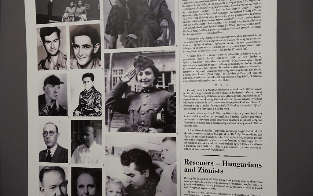 A photo of Hannah Senesh in display at the Hungarian Jewish Museum and Archives in Budapest's Dohany Street Synagogue. (Shmuel Bar-Am)