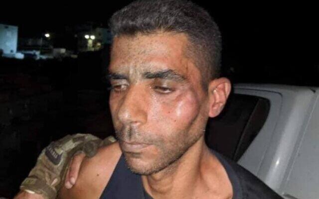 Zakaria Zubeidi seen after being recaptured in northern Israel on September 11, 2021 (Courtesy)