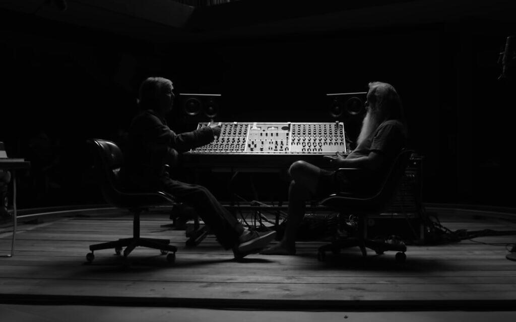 Paul McCartneyey, left, speaks to music producer Rick Rubin in 'McCartney 3,2,1.' (YouTube screenshot/ Hulu)