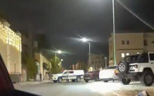 The home of senior Arab Israeli police officer Jamal Hakroush was attacked by gunmen in the northern Israeli city of Kafr Kanna on September 10, 2021 (Screen grab/Kan)