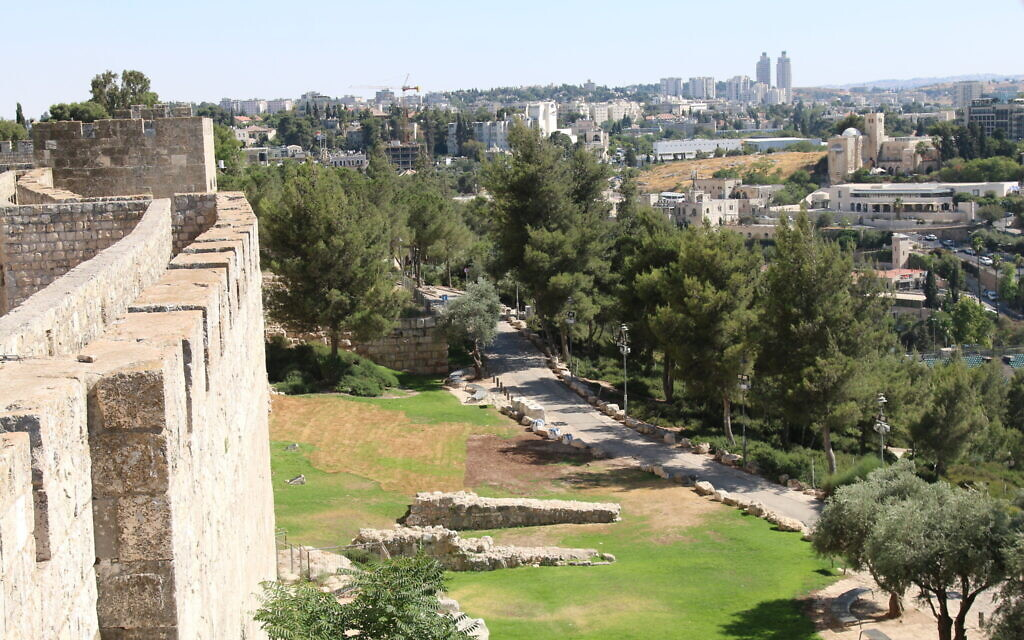 A view from the Old City ramparts. (Shmuel Bar-Am)