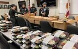Several kosher restaurants in Hollywood, Florida donated food to the local police precinct after an officer was shot responding to an attempted robbery. (Adina Ciment)