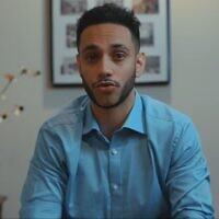 Ibraheem Samirah appears in a undated campaign video. (Screen capture via JTA)