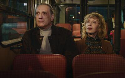 Vladimir Friedman and Maria Belkin in 'Golden Voices.' (Music Box Films/ via JTA)