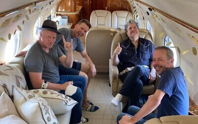 The members of American rock band Counting Crows, who will perform in Israel on April 20, 2022 (Courtesy Counting Crows)