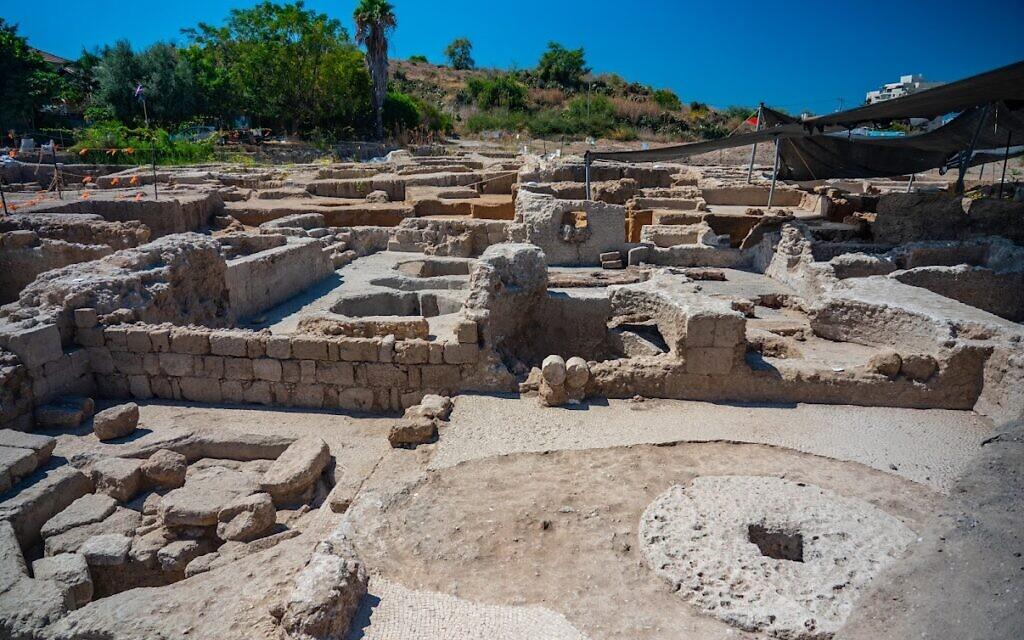 The Byzantine winepress uncovered in Yavne (Yaniv Berman/IAA)