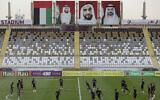 Illustrative -- Under the images of UAE leaders, Brazil's players train during a practice session in Abu Dhabi, United Arab Emirates, Nov. 12, 2019 (AP Photo/Kamran Jebreili)