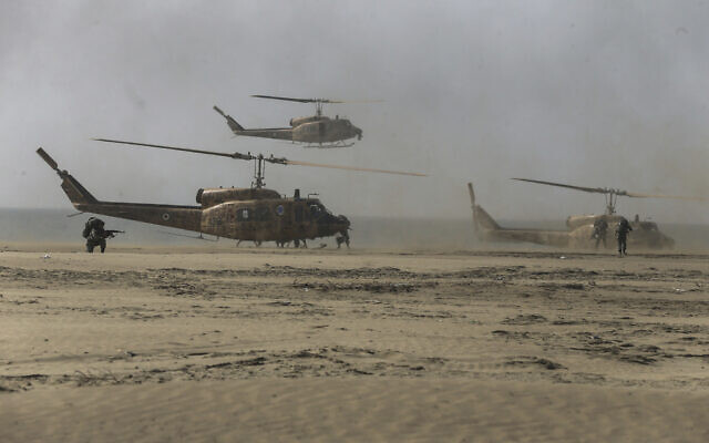 Illustrative: Troops participate in a military drill in Iran, January 20, 2021 (Iranian Army via AP)